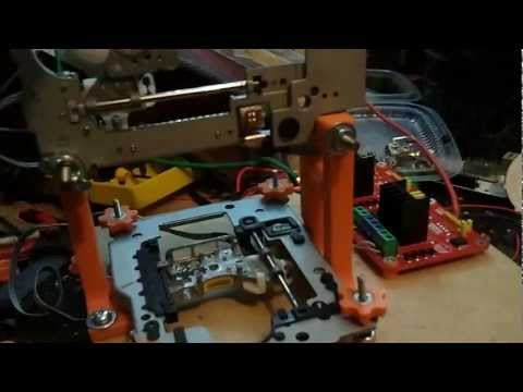 Fabricar un pequeño CNC Laser con grabadores de dvd viejos (Parte 1)