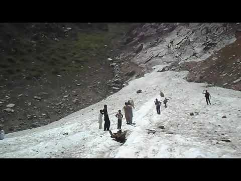 On the glacier of lake saif ul malook