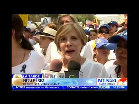 María Corina Machado habla en NTN24 sobre masiva marcha de mujeres este miércoles en Caracas