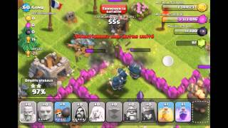 Clash Of Clan Sorcier Lvl 5 = Carnage ! 720 P Oblige