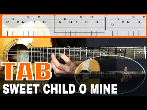 how to play sweet child of mine tabs