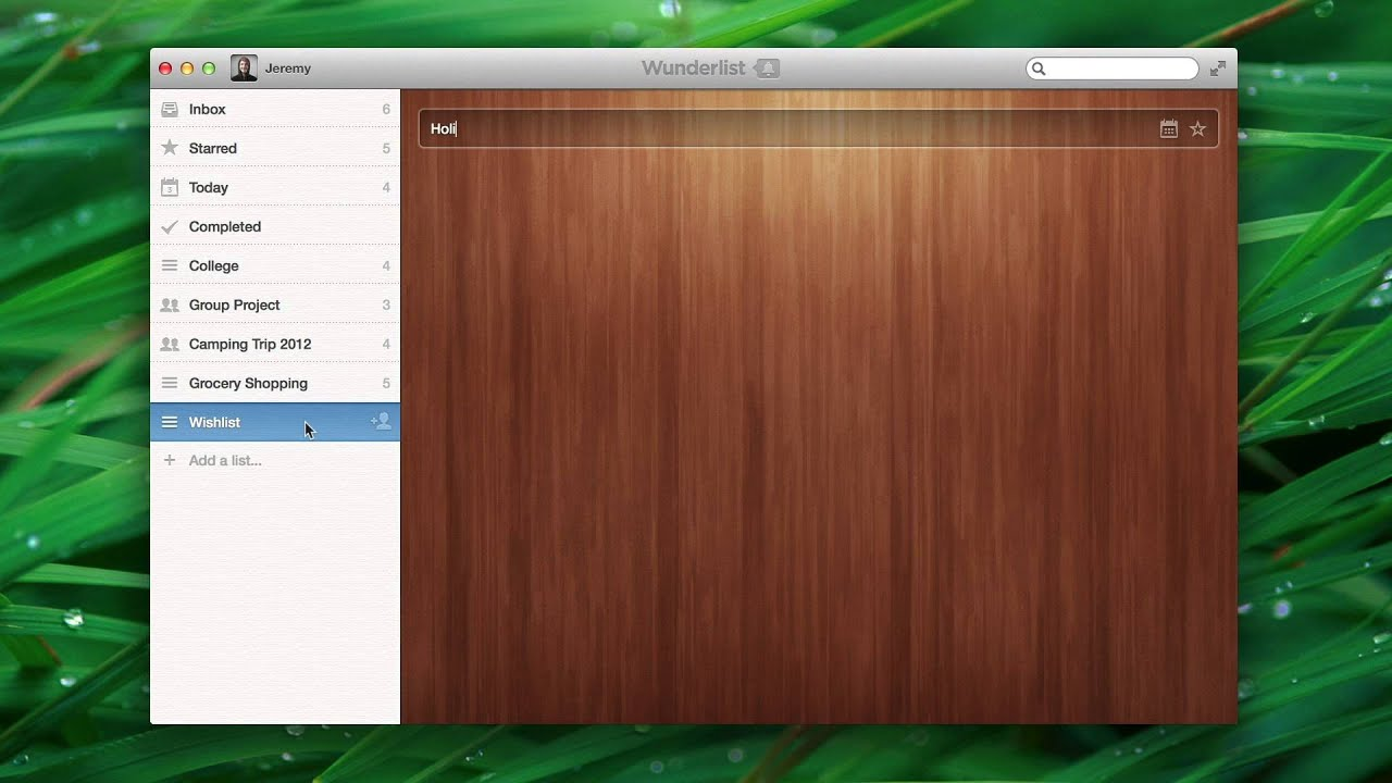 how to add a category to wunderlist