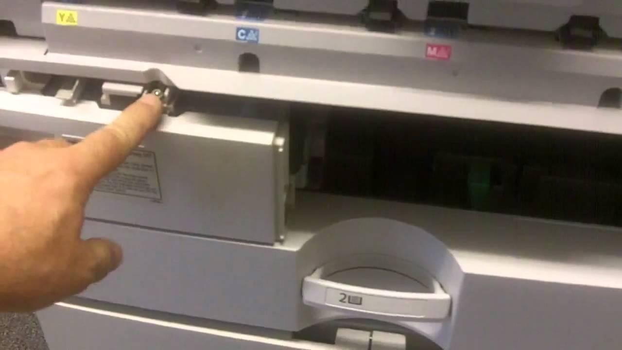 Replacing The Waste Toner Bottle On Ricoh Color Copier