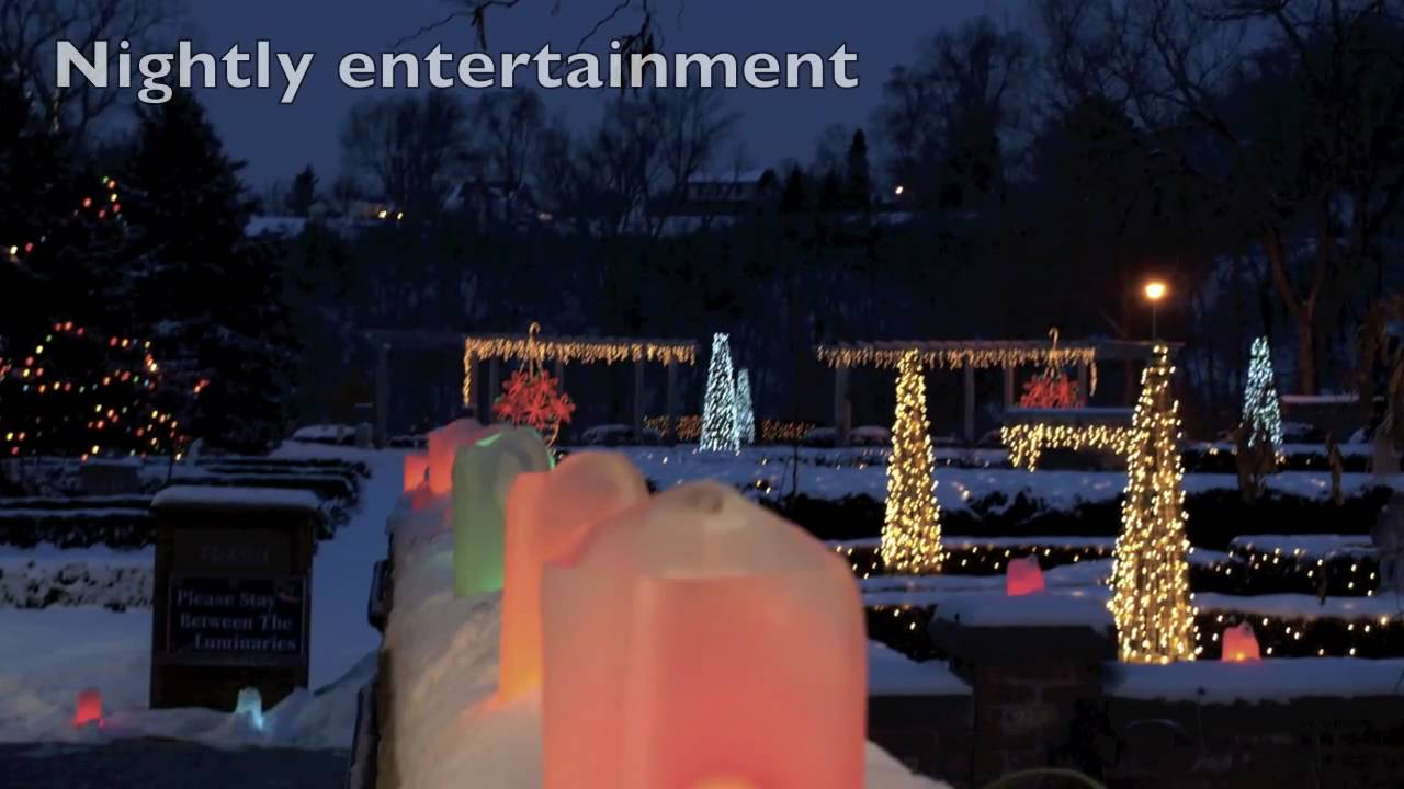 holiday light show 2010 at rotary botanical gardens in janesville wi youtube