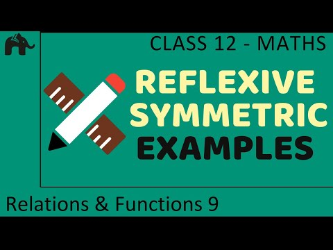 Maths Relations &amp; Functions part 9 (Example Reflexive Symmetric) CBSE class 12 Mathematics