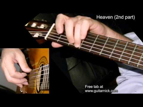 Heaven (2nd part) by Nicola Mandorino - fingerstyle classic guitar WITH TAB! Learn how to play