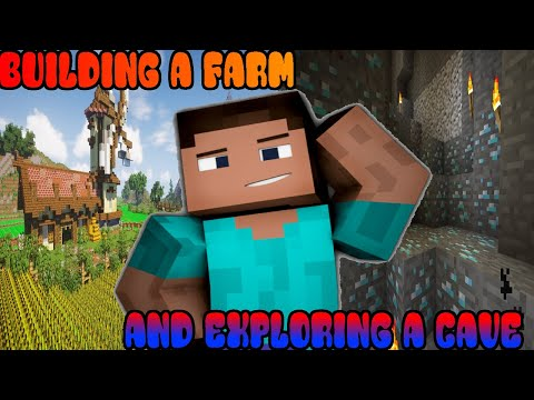 Making a Minecraft Farm, Exploring Mysterious Cave in Minecraft| HINDI
