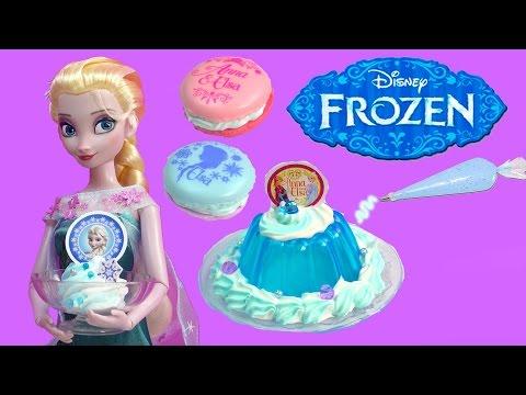 Queen Elsa Disney Frozen Whipple Jello Ice Cream 2 Macarons Princess Anna Birthday Craft Unboxing