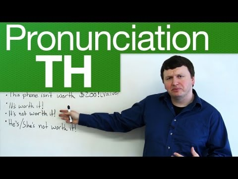 Pronunciation - TH - through, weather, lethal, breath, breathe