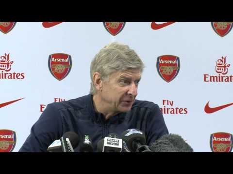 Arsene Wenger pre Aston Villa vs Arsenal