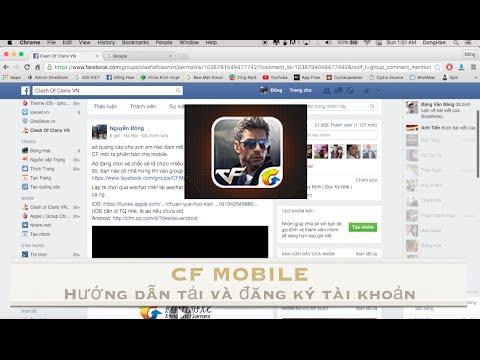 Hướng dẫn Download và đăng ký tài khoản CF Mobile