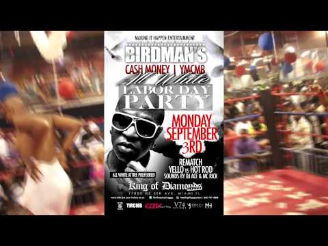 CASH MONEY YMCMB ALL WHITE LABOR DAY GTVODKA PARTY HOSTED BY BIRDMAN
