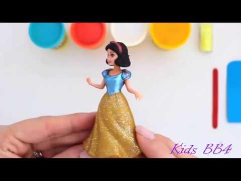 Làm váy công chúa bằng đất nặn với kim tuyến lấp lánh Make a princess skirt with sparkling jewelery