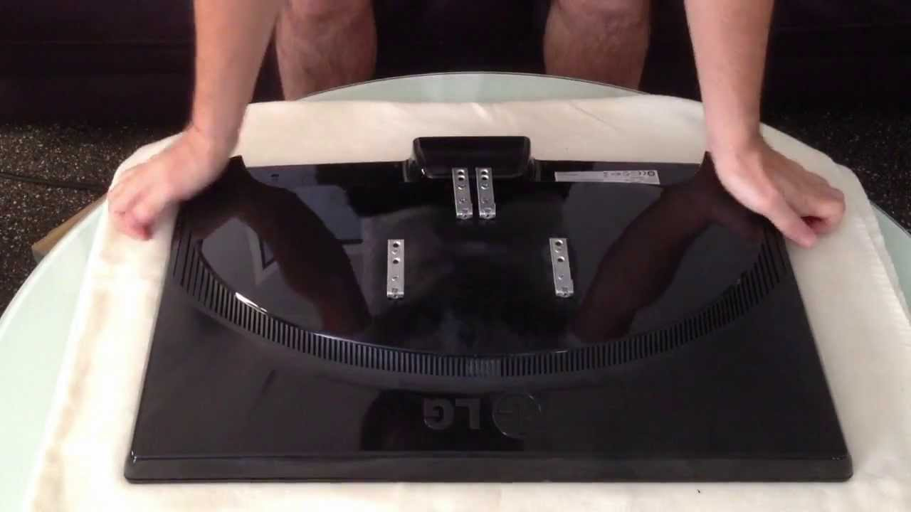 Lg Flatron W2453 Disassembly Amp Wall Mount Install Youtube
