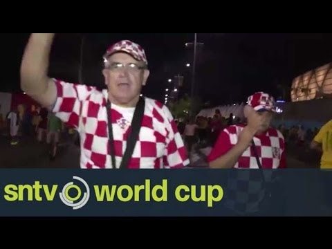 Croatia fans jubilant following 4-0 win over Cameroon