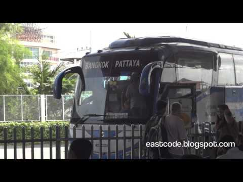 Main Pattaya bus station to Bangkok City and  BKK Airport