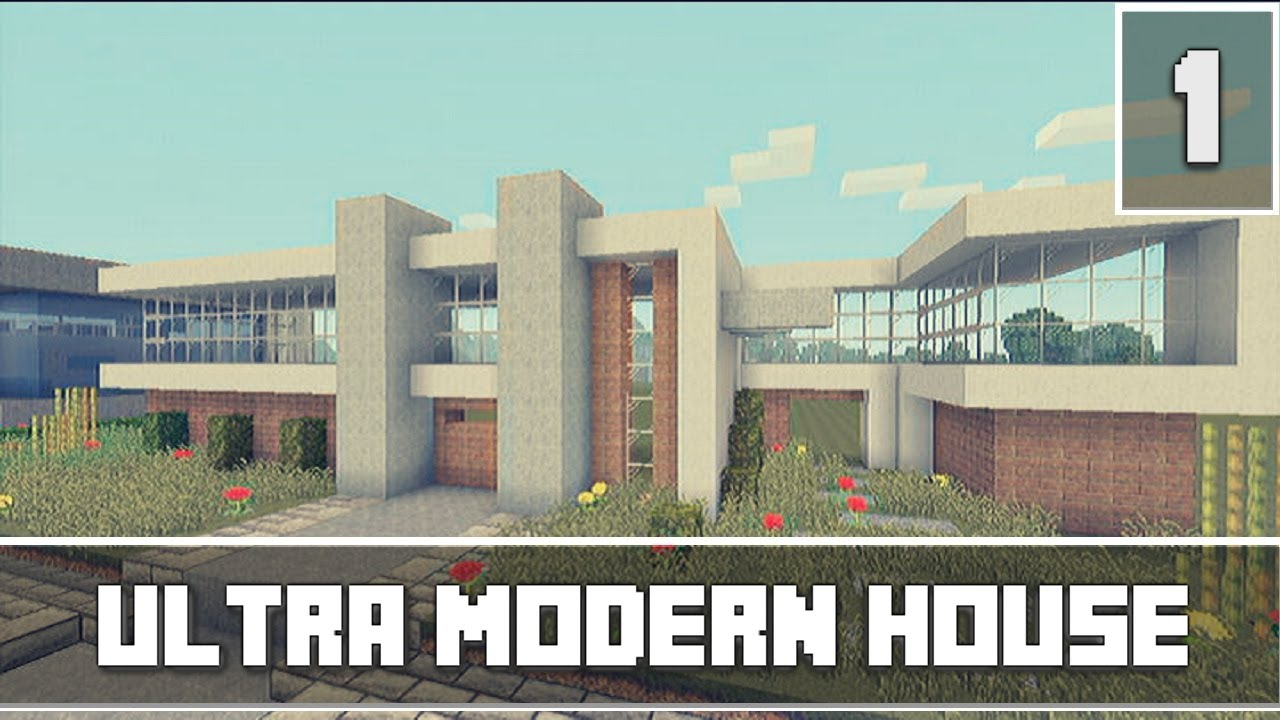 Minecraft xbox 360 lets build part 1 ultra modern house for Modern house minecraft xbox 360 edition