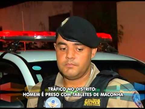 Jovem é preso com tabletes de maconha no Distrito de Tapuirama