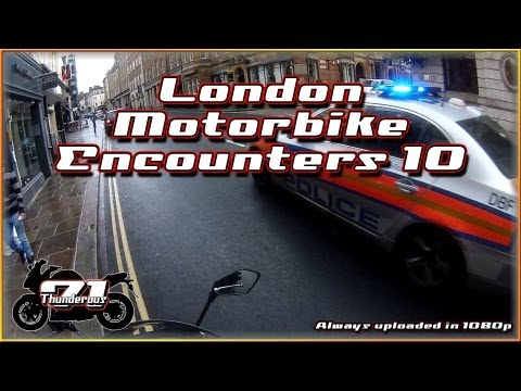 London Motorbike Encounters 10 - I'm invisible and Police chase me?