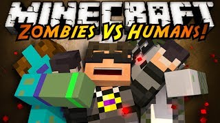 Minecraft Mini-Game : ZOMBIES VS HUMANS!