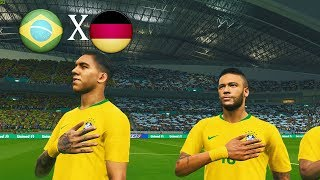 BRASIL VS ALEMANHA - PES 2018