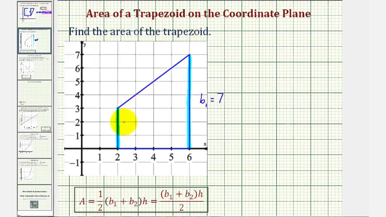 ex  area of a trapezoid on the coordinate plane