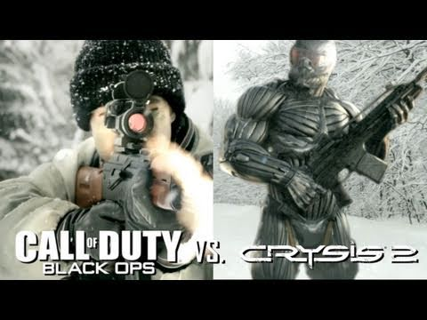 Crysis 2 vs Call of Duty Black Ops - Дуэль