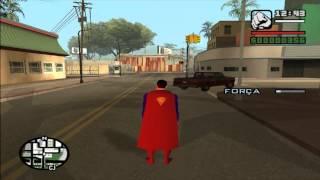 Como Jogar Com O Mod Superman Do GTA San Andreas (PC)