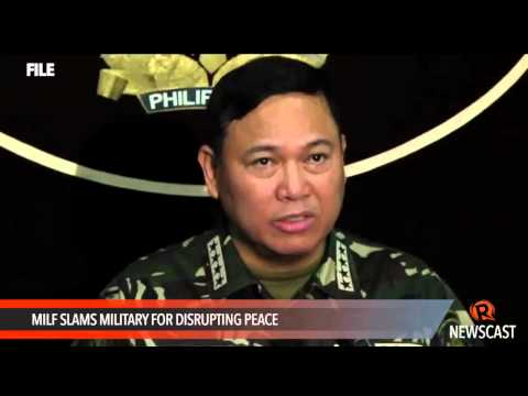 MILF slams military for disrupting peace