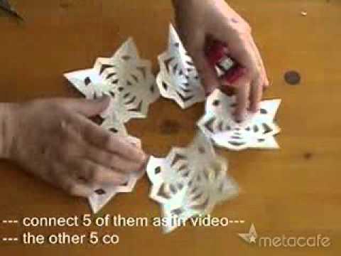 Globo o esfera 3d de copos de nieve de papel manualidades - Copos de nieve manualidades ...