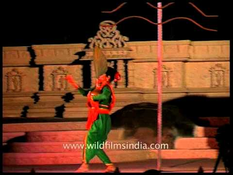 Onstage performance by dance troop at Khajuraho dance Festival