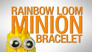 How To Make A Rainbow Loom MINION Bracelet HD