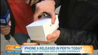 Nový iPhone 6 na zemi