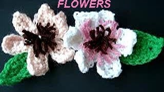 CROCHET Pattern, Hair Pin Flowers, Water Lily, Leaf, For