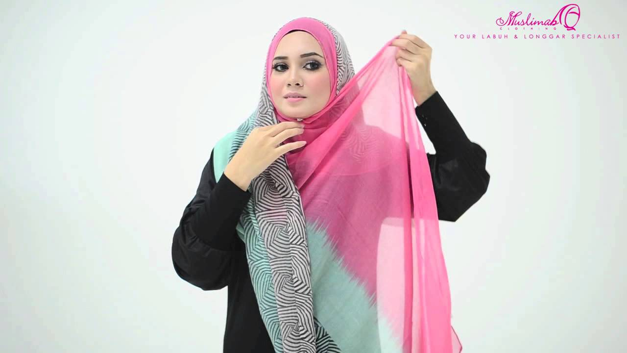 Tutorial : 4 Ways to Style Wide Shawl by Muslimah Clothing