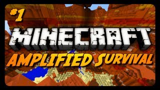 Minecraft: AMPLIFIED Survival Ep. 1 - STRUGGLE FOR LIFE!