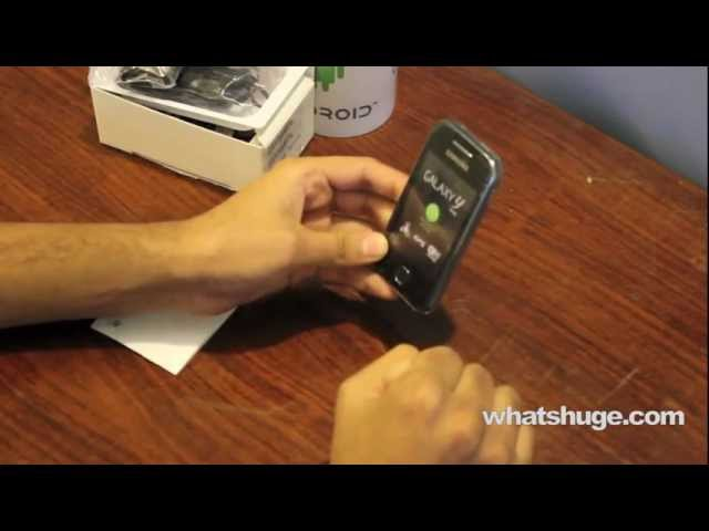 Samsung Galaxy Y (Young) review (Unboxing) | The shortest review)
