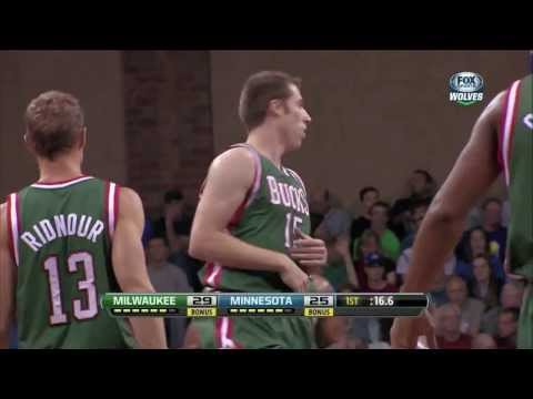 Olek Czyz - Dunk - Milwaukee Bucks vs Minnesota Timberwolves [NBA Preseason - HD]