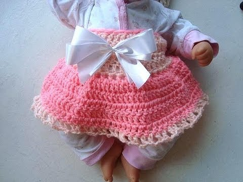 Free Crochet Patterns Baby Shower Favors : CROCHET DIAPER COVER SKIRT, for baby, crochet pattern ...