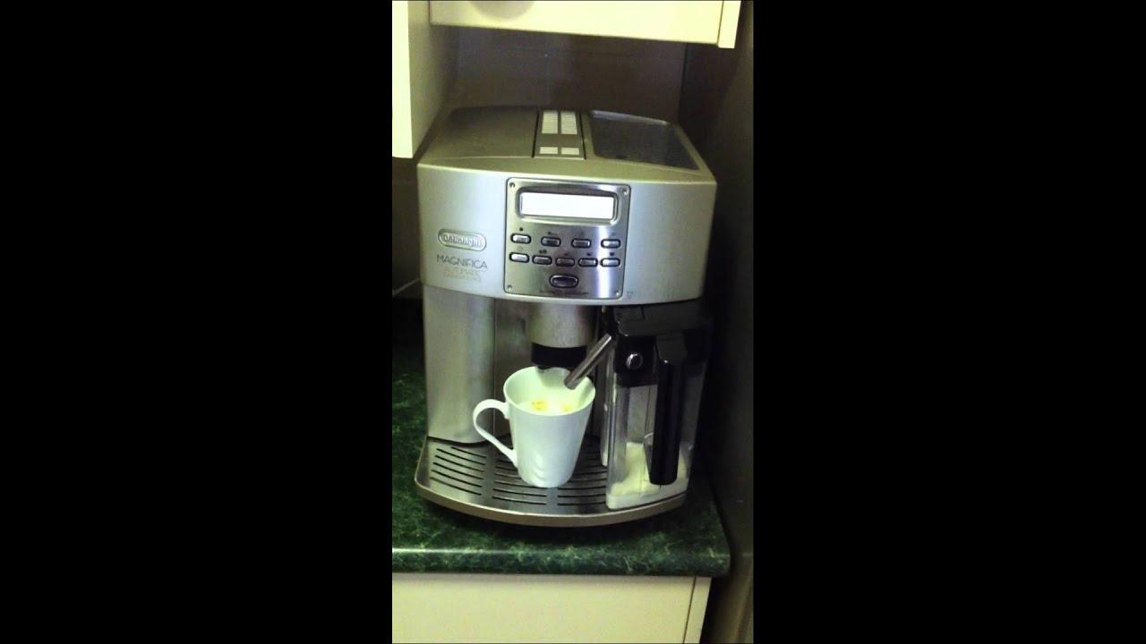 how to make coffee delonghi magnifica automatic coffee machine 04110b