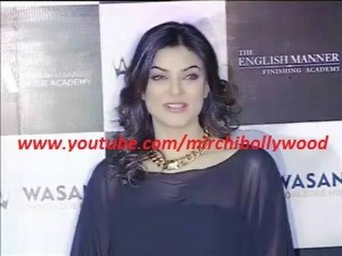 Sushmita Sen looks hot in Black transparent top