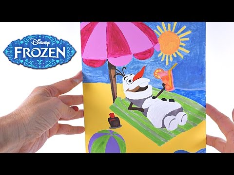 Frozen Paint by Number Olaf Disney Artwork Elsa Anna Sven Kristoff Coloring Painting