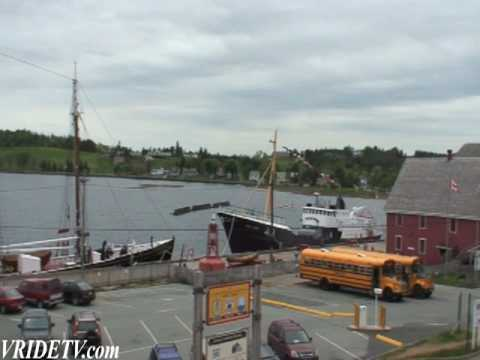 Motorcycle touring in Lunenburg, Nova Scotia, Canada. vridetv.com