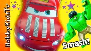 HULK SMASH Disney Cars2! Lightening McQueen Francesco Race