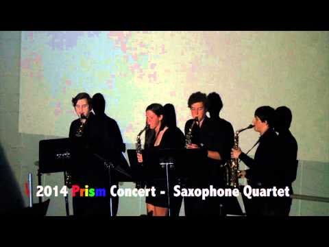 CCHS 2014 Prism Concert - Saxophone Quartet