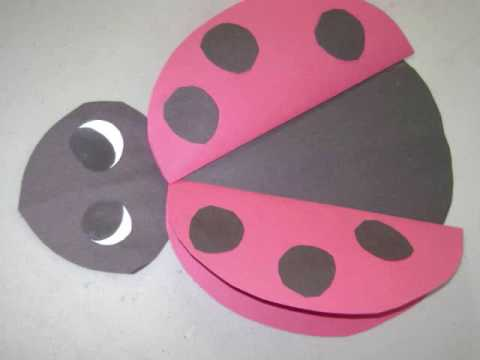 How to make a paper lady bug