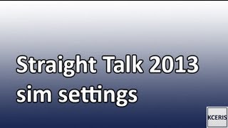 2013 Straight Talk/Net10 AT&T And T-mobile 3g/4g LTE New