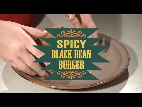 Hungry Gator: Black Bean Burger Cooking Tutorial