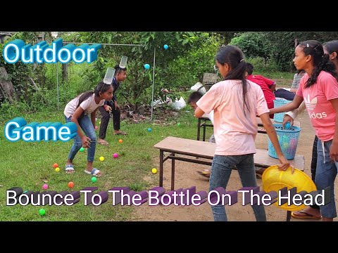 Bounce To The Bottle On The Head | Fun Outdoor Games | Fun Team Building Games