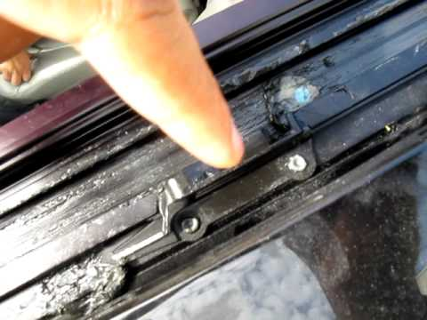 How To Fix Chevy Hhr Sunroof Broken Wind Deflector Bracket